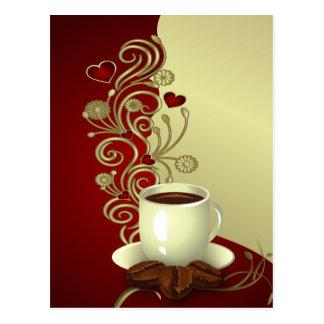 Modern kaffeälskare vykort