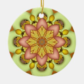Modern Kaleidoscopeprydnad Julgransprydnad Keramik