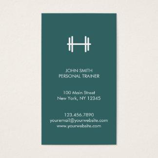 Modern kondition/personlig instruktörvisitkort visitkort