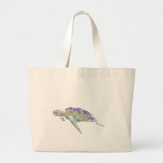 Modern konst för simninghavssköldpadda jumbo tygkasse