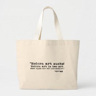 Modern konst suger jumbo tygkasse