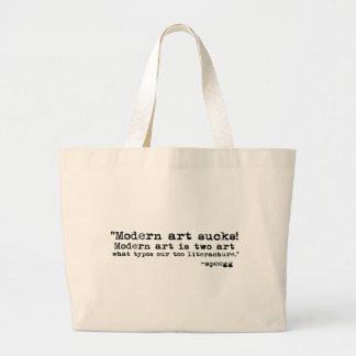 Modern konst suger tygkasse