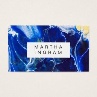 Modern konstnärlig idérik designblåttabstrakt visitkort