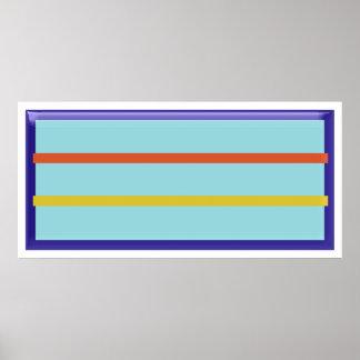 Modern konstrektangel och 2 linjer poster