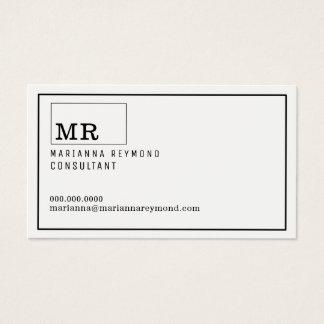 modern konsulent för inledningskontakt-kort visitkort