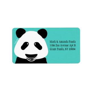 Modern kricka för Pandabjörn Adressetikett