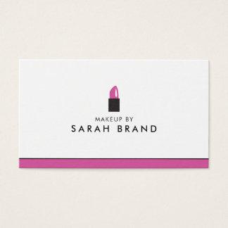 Modern läppstift för Makeupkonstnär Visitkort