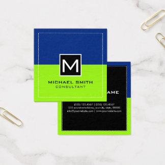 Modern limefruktmörk för yrkesmässig Monogram - Fyrkantigt Visitkort
