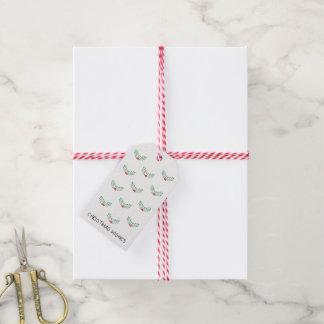 Modern märkre för julönskemålgåva presentetikett