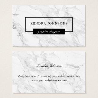 Modern marmor visitkort