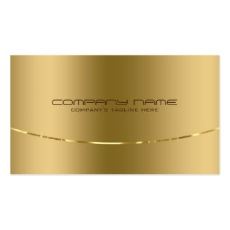 Modern metallisk guld- designrostfritt stålLook Set Av Standard Visitkort