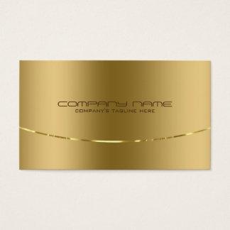 Modern metallisk guld- designrostfritt stålLook Visitkort