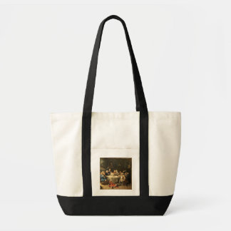 Modern midnatt konversation tote bags