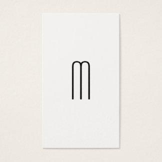 Modern Minimalist Monogram Visitkort
