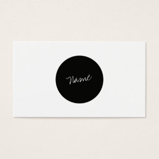Modern Minimalist Visitkort
