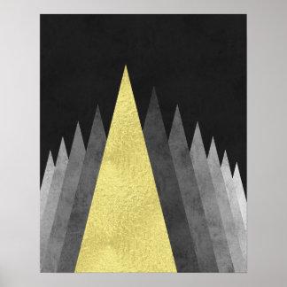 Modern minsta geometrisk konst för guld och för poster