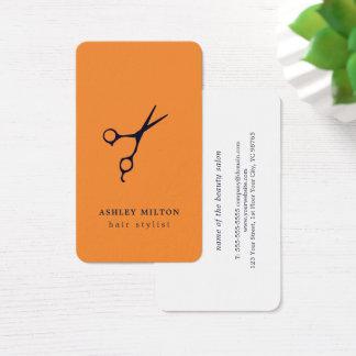 Modern minsta orange blått Scissors hairstylisten Visitkort