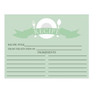 Modern möhippa för receptkortgrönt vykort