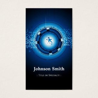 Modern mörk - blåttkick - teknologi visitkort