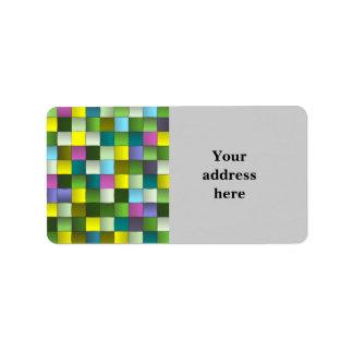 Modern mosaik vävt mönster adressetikett