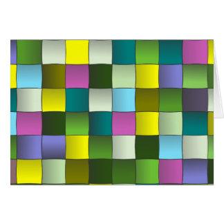 Modern mosaik vävt mönster hälsningskort