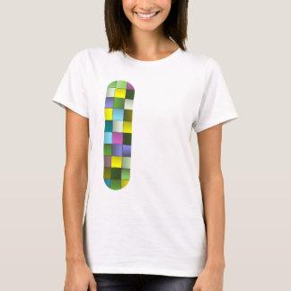 Modern mosaik vävt mönster tee shirts