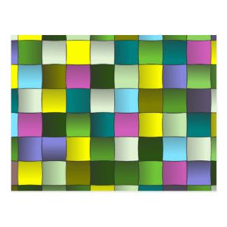 Modern mosaik vävt mönster vykort