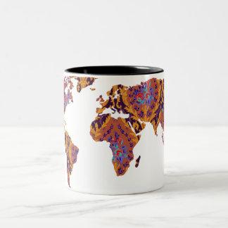 Modern mugg för handelsresande för värld för