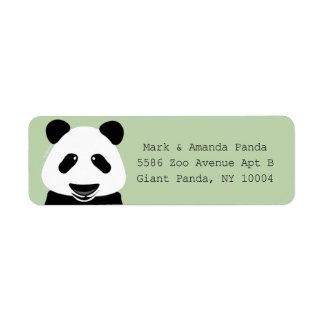 Modern neutral skrivmaskin för Pandabjörn Returadress Etikett