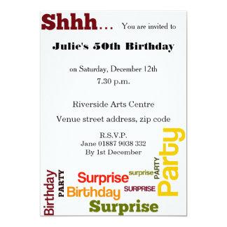 Modern överrrakningfödelsedagsfest inbjudan