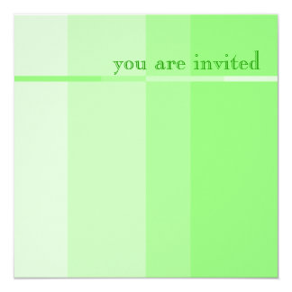 Modern partyinbjudan för grön fortgång fyrkantigt 13,3 cm inbjudningskort