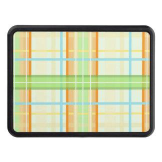 Modern pläddesign för orange & för grönt skydd för dragkrok