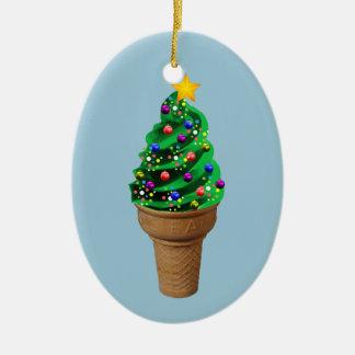 Modern prydnad för gulligt julglassträd julgransprydnad keramik