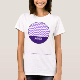 Modern purpurfärgad sparre tee shirt
