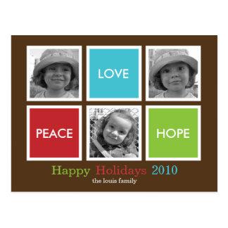 Modern ramarjulkort/Holiday vykort