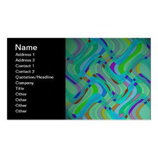 Modern Retro abstrakt design i deppighet och Set Av Standard Visitkort