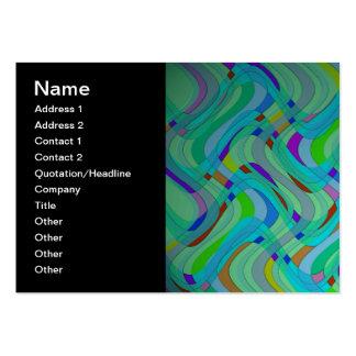 Modern Retro abstrakt design i deppighet och Visitkort