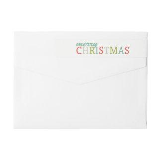 Modern returadress för färggod julsjal etikettband