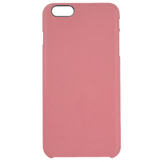 Modern röd anpassadeRuby Clear iPhone 6 Plus Skal