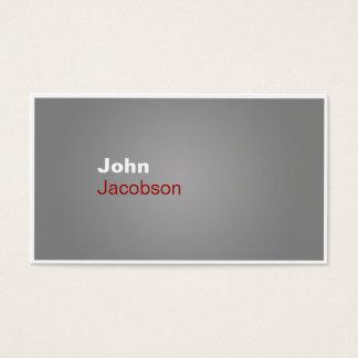 Modern röd & för vit vanlig visitkort för grått,