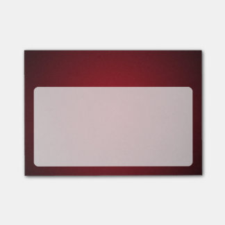 Modern Röd-Svart kornig karaktärsteckning Post-it Lappar