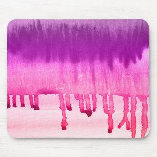 Modern rosa purpurfärgad vattenfärg Ombre Mus Mattor