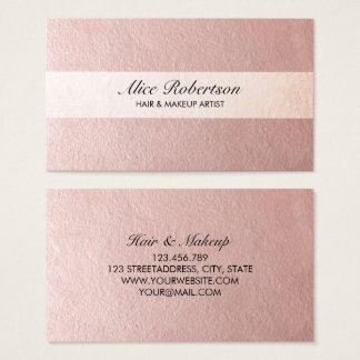 Modern rosa skina stil visitkort