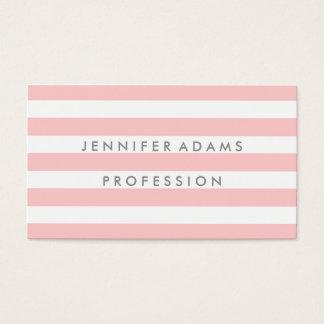 Modern rosa visitkort för elegant rand