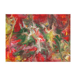 Modern samtida konst för abstrakt målning canvastryck