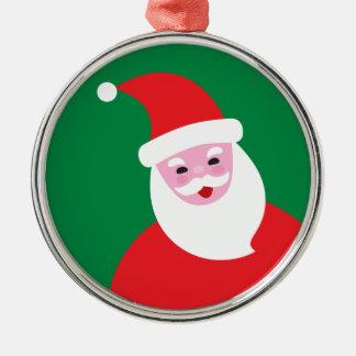 Modern Santa prydnad Julgransprydnad Metall