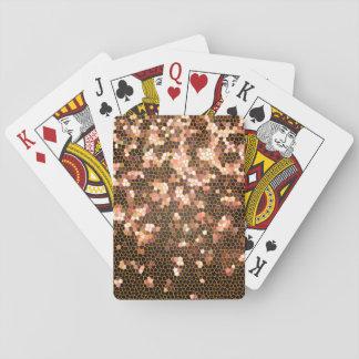 Modern snyggt- och trendigsvart och gult mönster casinokort