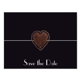 Modern spara för hjärtakaffe dateraelegantvintagen 10,8 x 14 cm inbjudningskort