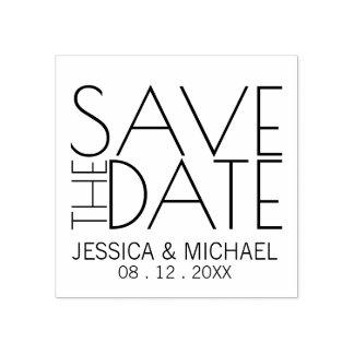 Modern stilfull bröllop spara datum stämpel