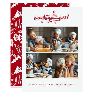 Modern stygg trevlig jul för HELGDAGFOTOKORT   12,7 X 17,8 Cm Inbjudningskort